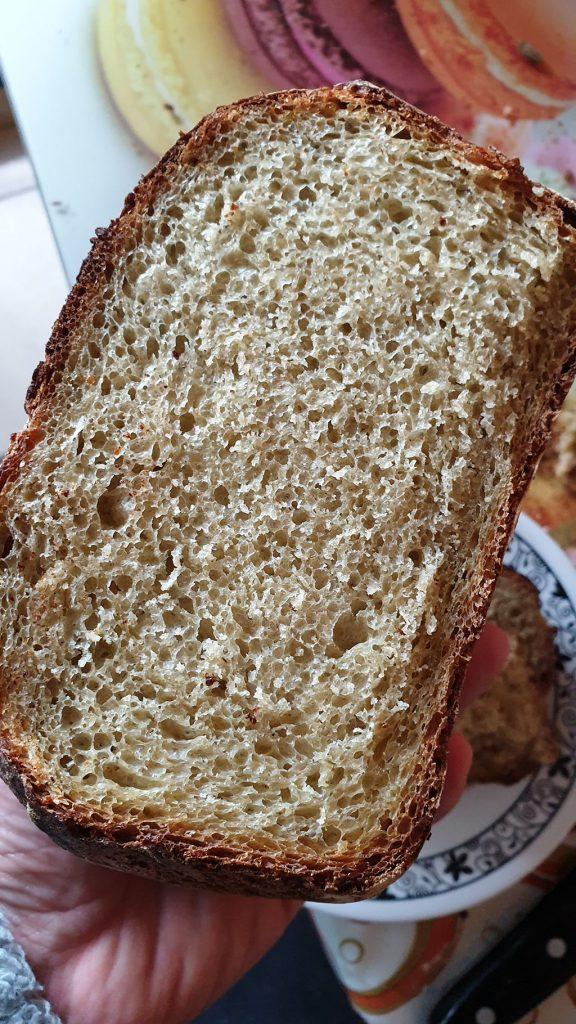хляб с квас - срединката е бухнала