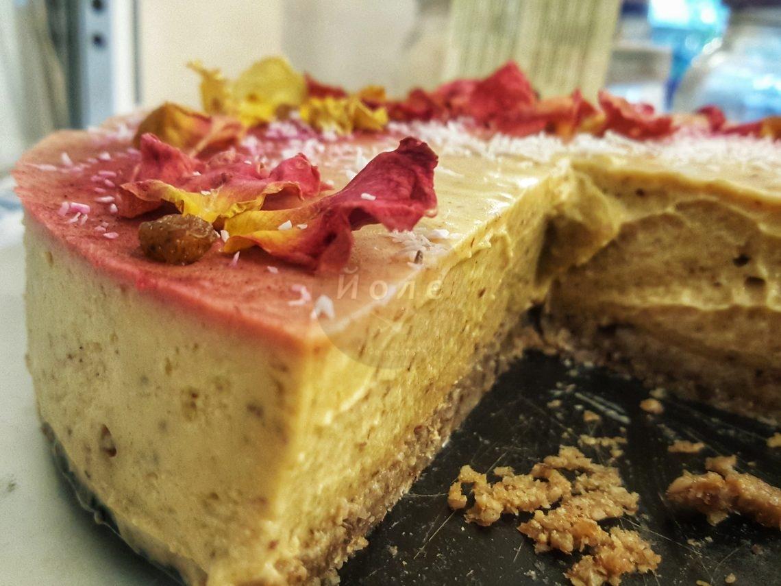 Сурова торта с праскови